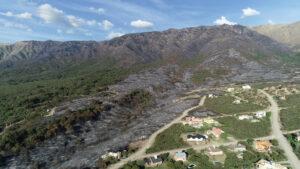 Incendio forestal en Carpintería
